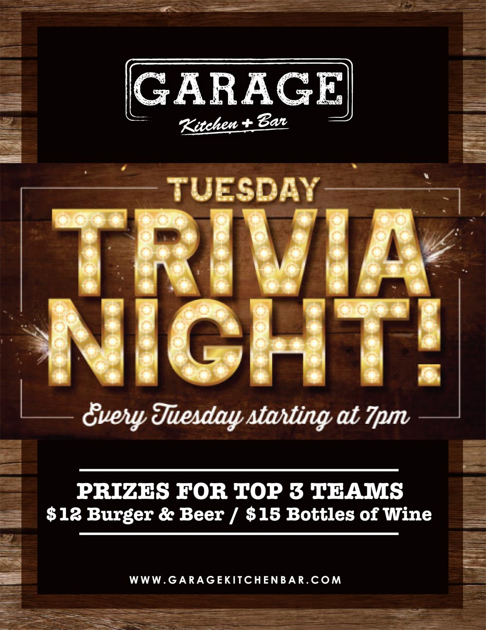 TRIVIA NIGHT Every Tuesday