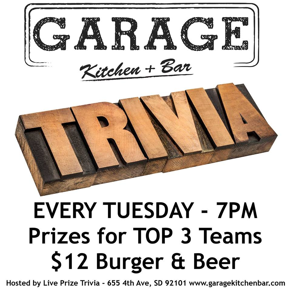 TRIVIA NIGHT – Every Tuesday 7pm